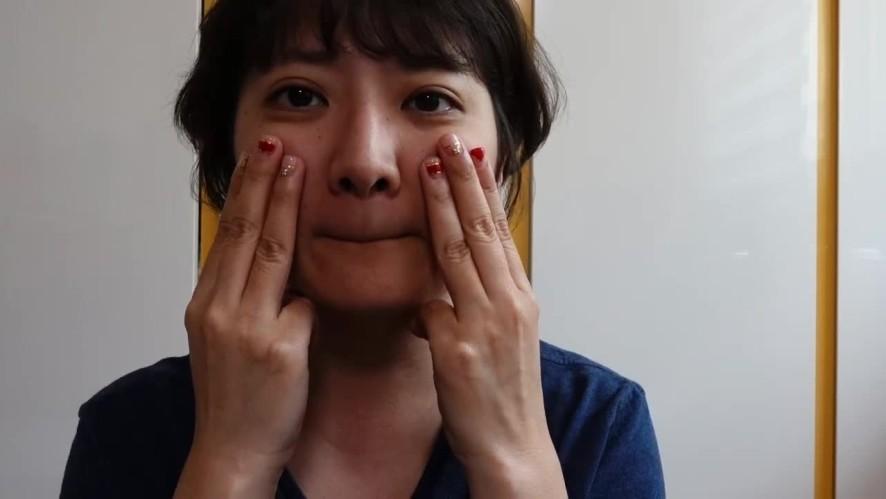 (1분팁) 얼굴작아지는법 셀프마사지 Self-massage to make face smaller