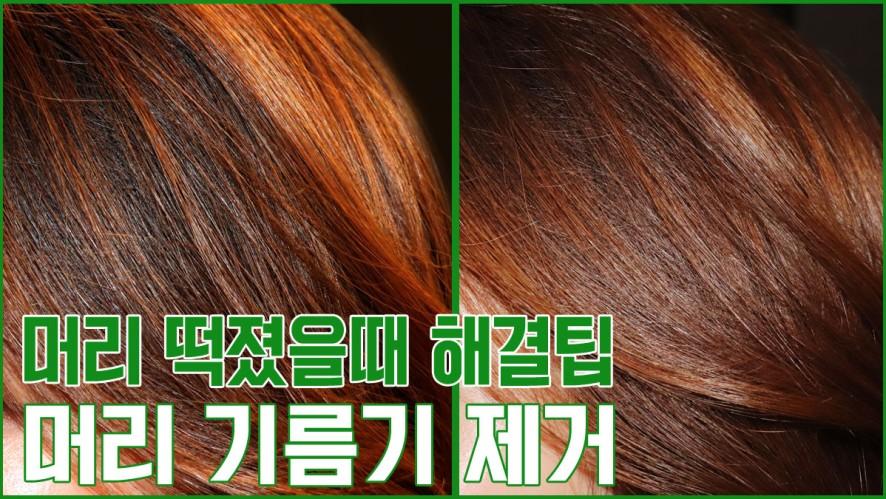 [1분팁] 머리 떡졌을때 해결팁 : 헤어파우더로 머리 기름기 제거하기 How to get rid of oily hair with hair powder