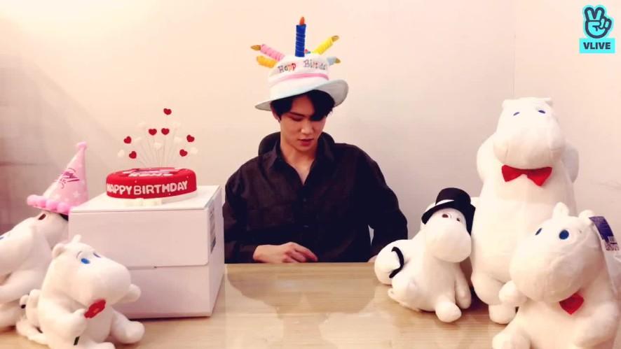 김동한 스물한 번째 생일 축하 기념 브이앱😬
