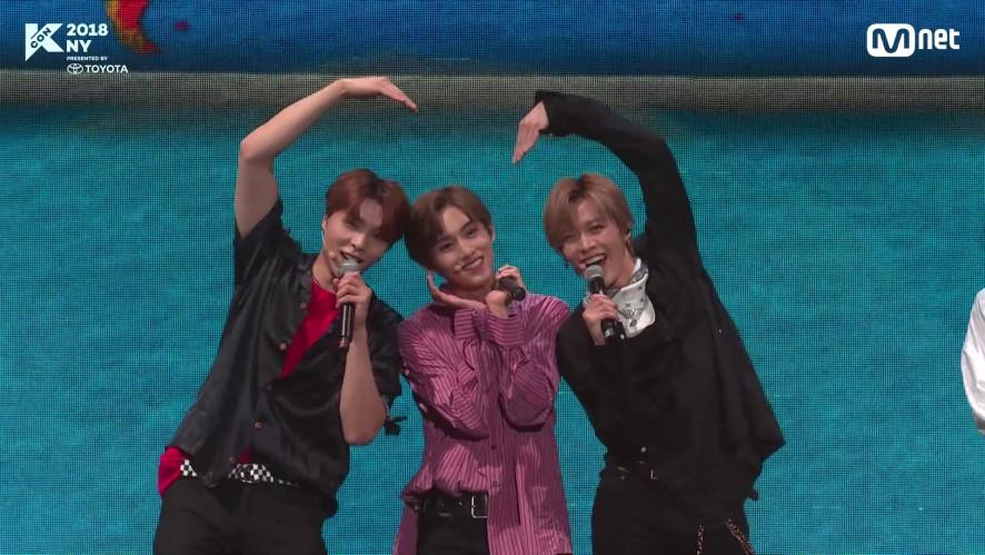 (심쿵사 주의♥) NCT 127의 사랑스런 애교 발사! @KCON2018NY 미방영분