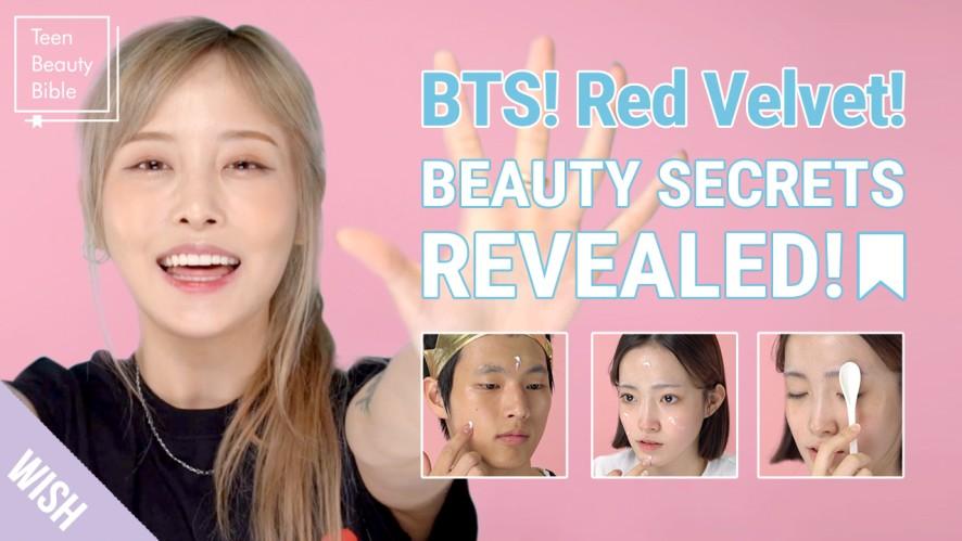 K Pop Idol Beauty Secrets Revealed! BTS & Red Velvet's Tips for Glowing Skin! | Teen Beauty Bible