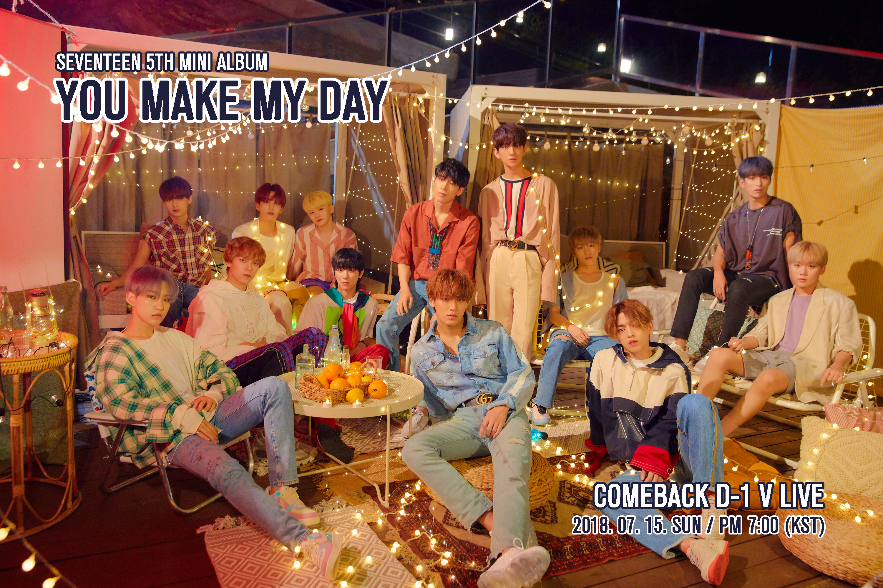 SEVENTEEN 5TH MINI ALBUM 'YOU MAKE MY DAY' COMEBACK D-1 V LIVE