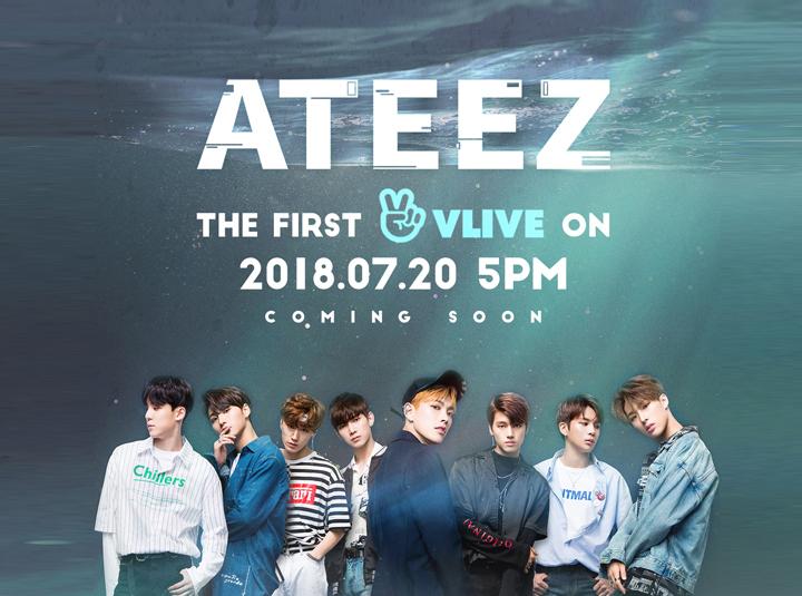 [ATEEZ] 두근두근 에이티즈 첫 번째 V LIVE!  (ATEEZ FIRST V LIVE)