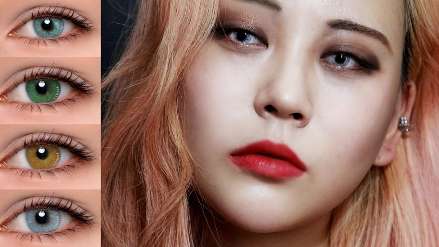 EUNBI✟Colored contacts Review 인스타에서 핫한 컬러별 혼혈렌즈 리뷰