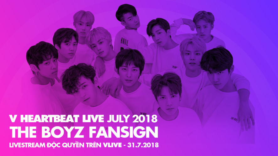 THE BOYZ FANSIGN - V HEARTBEAT LIVE 31/7