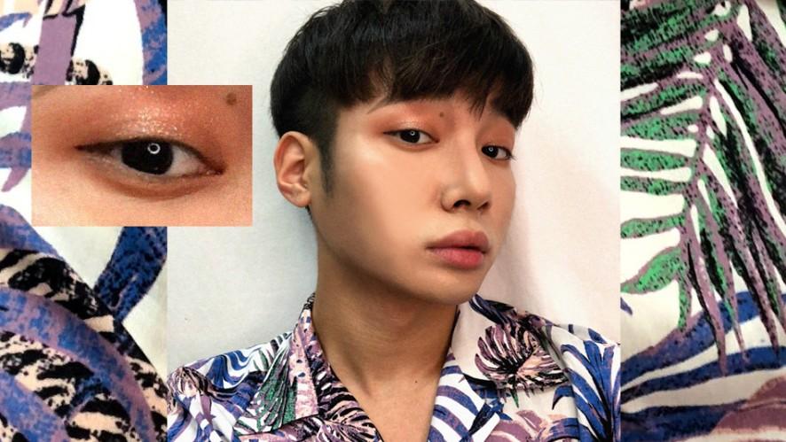 <QYOUNG> Pink+orange tropical makeup