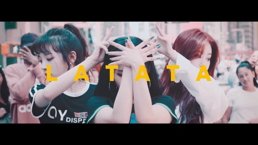 (여자)아이들 - FLASHMOB in New York : 'LATATA'