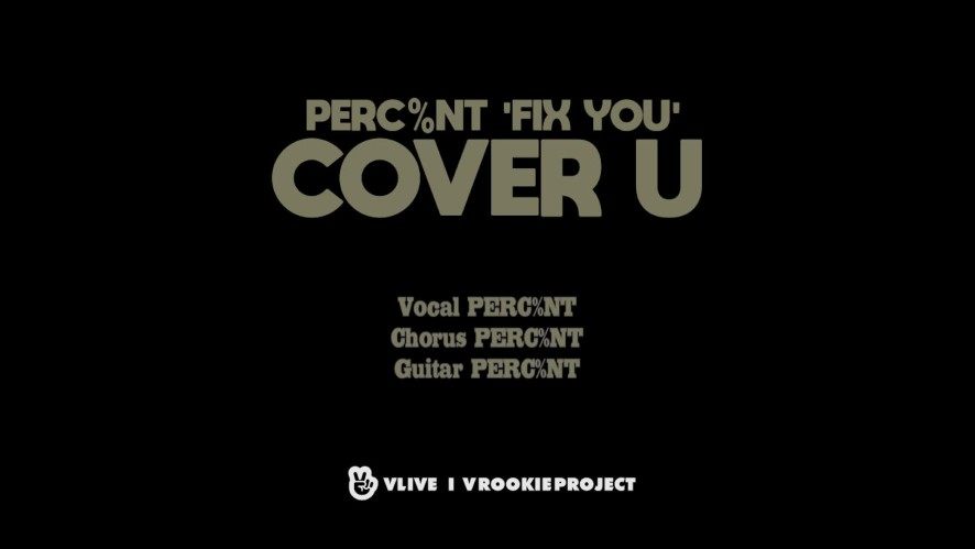 [COVER U_AUDIO ONLY] Fix You - Coldplay (Cover by PERC%NT)