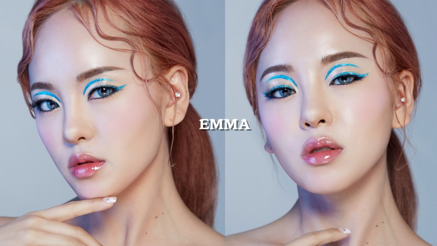 [EMMABEAUTY 화보장인엠마] 화보 LOOK .1 트윙클 블루 아이홀 메이크업 / Twinkle Blue eyehole Make-up + VLOG