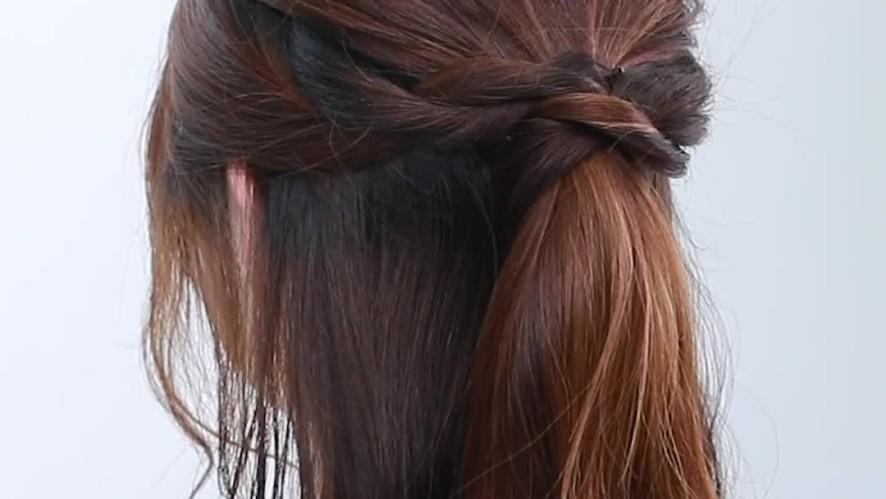 [1분팁] 뒷모습마저 아름다우시네요 '청순반묶음' 묶는 방법