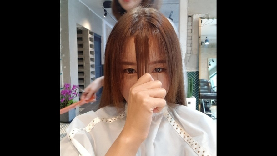 풀뱅 자르기~ Cut my bangs. full bangs!!!