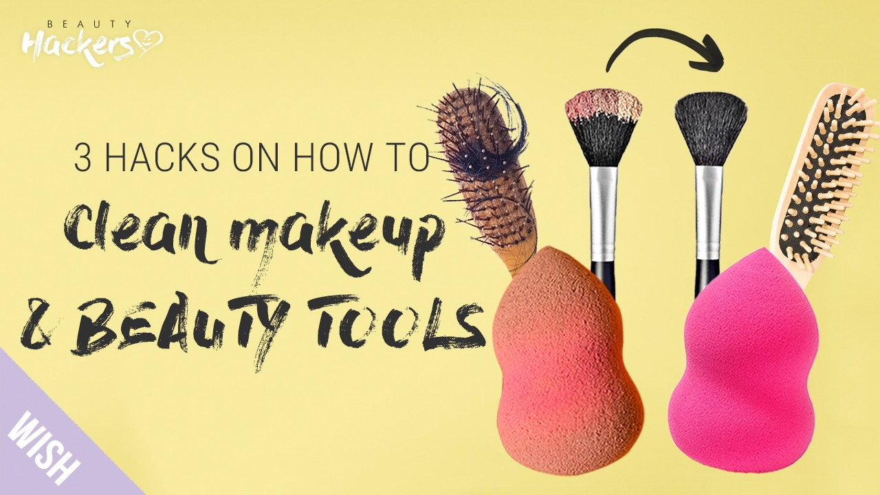 3 Hacks to Clean Cosmetic & Beauty Tools Like It's Brand New! | BeautyHACKers