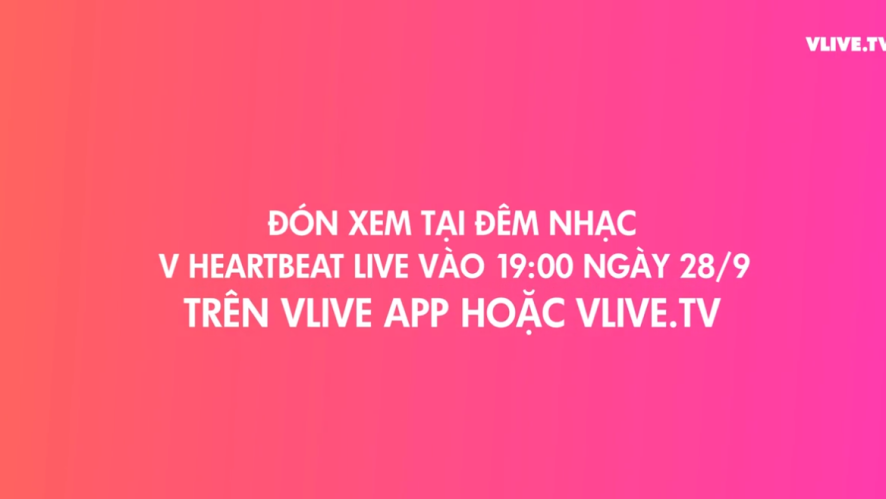 [TEASER] V HEARTBEAT LIVE SEPTEMBER
