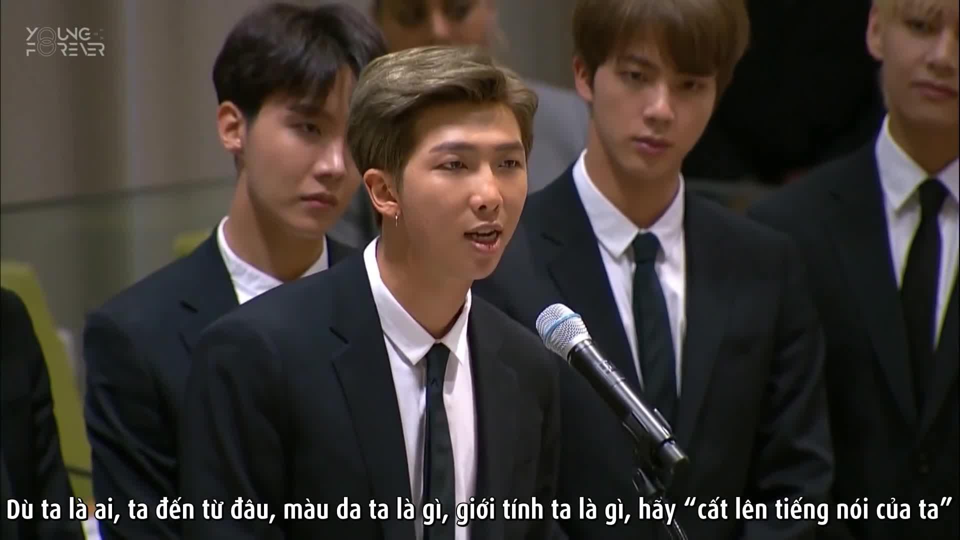 Màn phát biểu lay động của BTS tại Liên Hợp Quốc