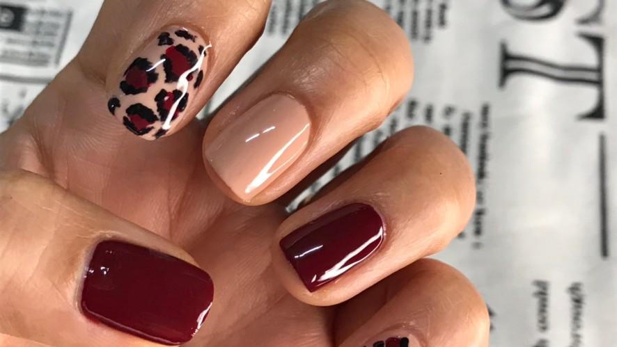 [1분팁] 호피네일하는법 How To: Leopard-Print Nails
