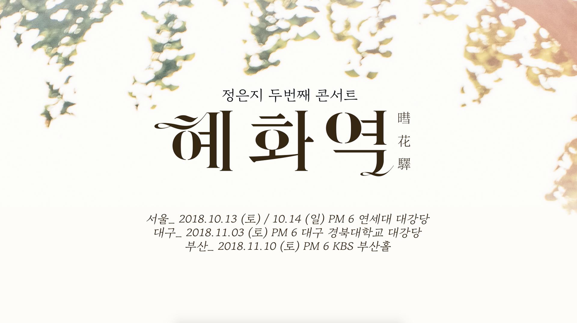 Jeong Eun Ji (정은지) 2nd Concert [혜화역(暳花驛)] SPOT