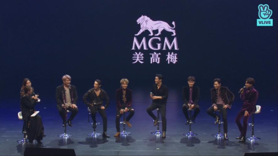 V LIVE - [FULL] 슈퍼주니어 컴백 쇼케이스 in 마카오 (Super Junior