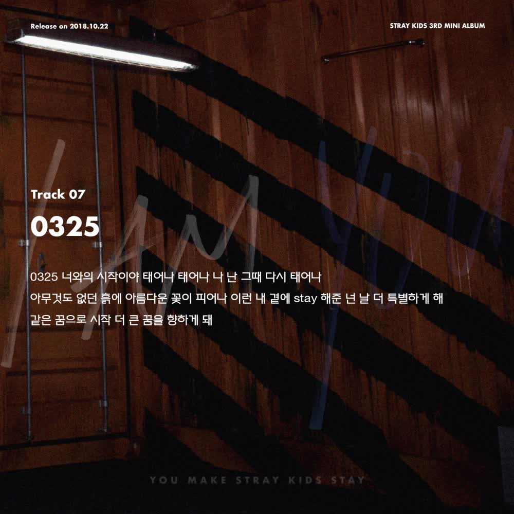 "Stray Kids(스트레이 키즈) <I am YOU> Inst. Lyric Card 7 ""0325"""
