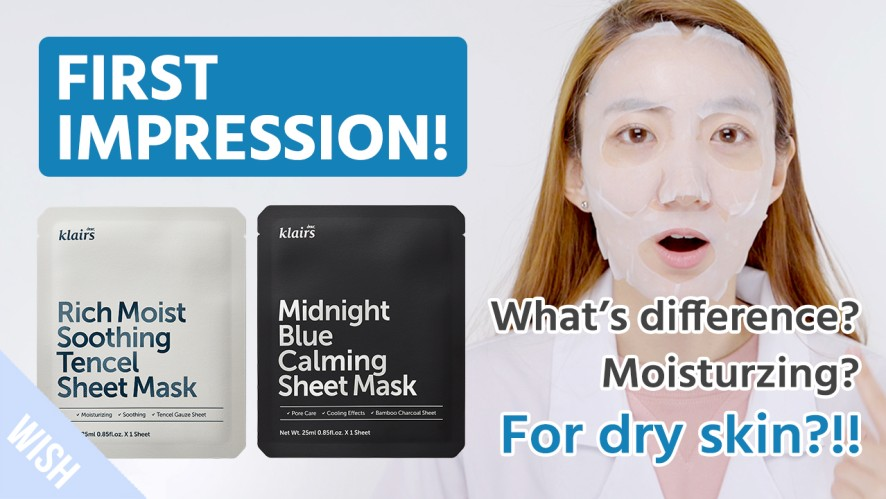 Different Sheet Masks for Different Skin Problems?   KLAIRS Soothing Tencel Mask, Blue Calming Mask
