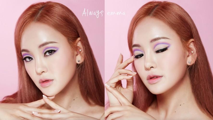 [엠마뷰티 EMMA BEAUTY] 화보장인엠마 - 화보 LOOK .6  핑크 아이홀 메이크업  Pink Eyehole Make-up