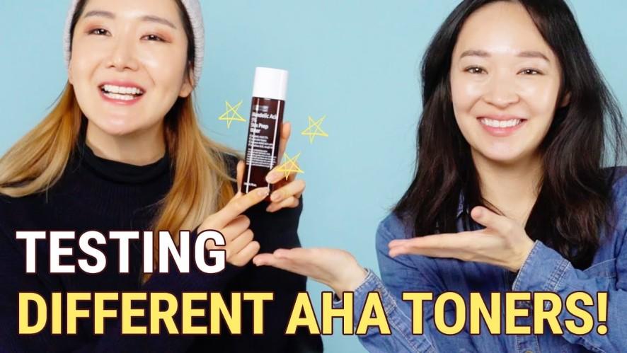 Testing Different AHA Toners (Absorption Rate Test) | Mandelic Acid 5% Skin Prep Water