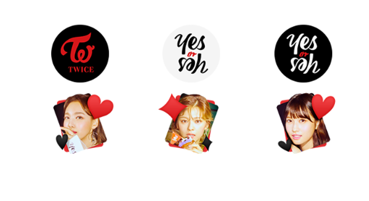 V LIVE - [STICKER] TWICE <YES or YES>