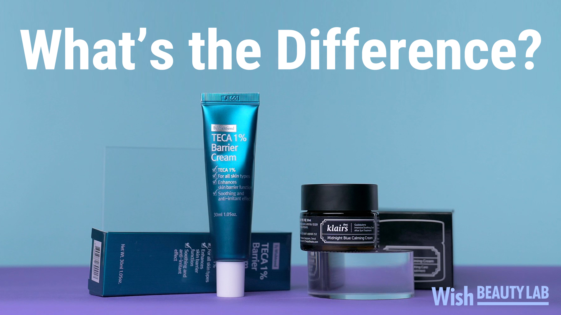 Difference between Teca 1% Barrier Cream and Midnight Blue Calming Cream