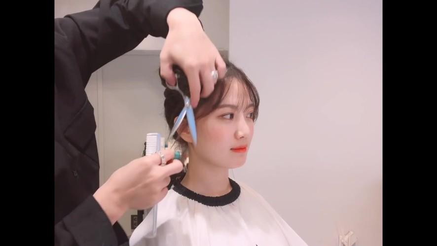 [1분팁] 앞머리 자연스럽게 자르기 (시스루뱅,잔머리컷)