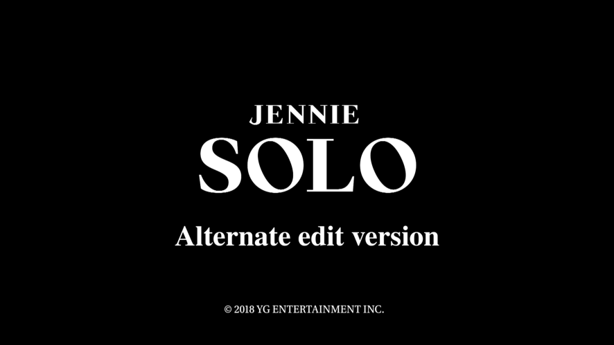 JENNIE - 'SOLO' CHOREOGRAPHY ALTERNATE EDITED VERSION