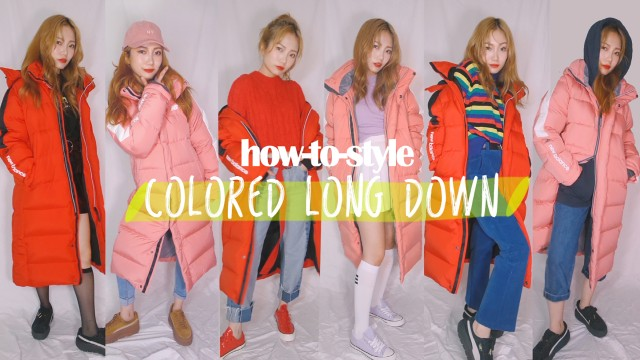 HOW-TO-STYLE COLORED LONG PADDED JACKET | KOREAN FASHION TREND | FAIRY TINA