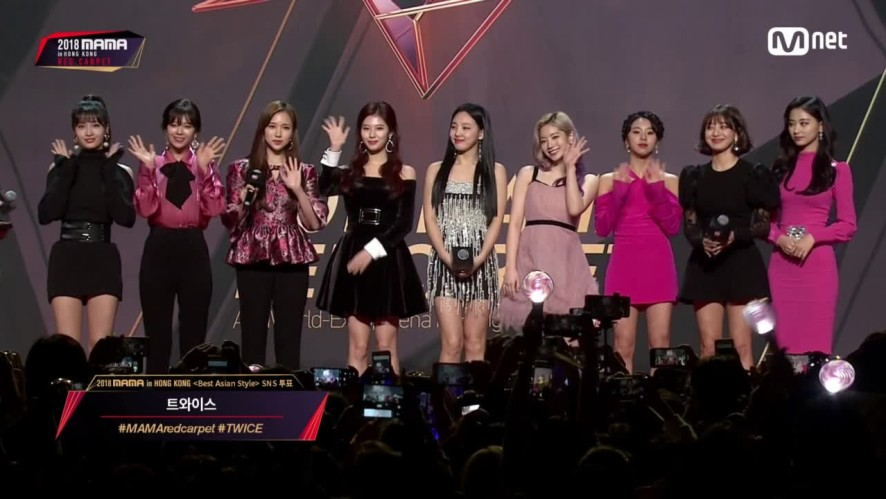 Red Carpet with TWICE(트와이스)│2018 MAMA in HONG KONG
