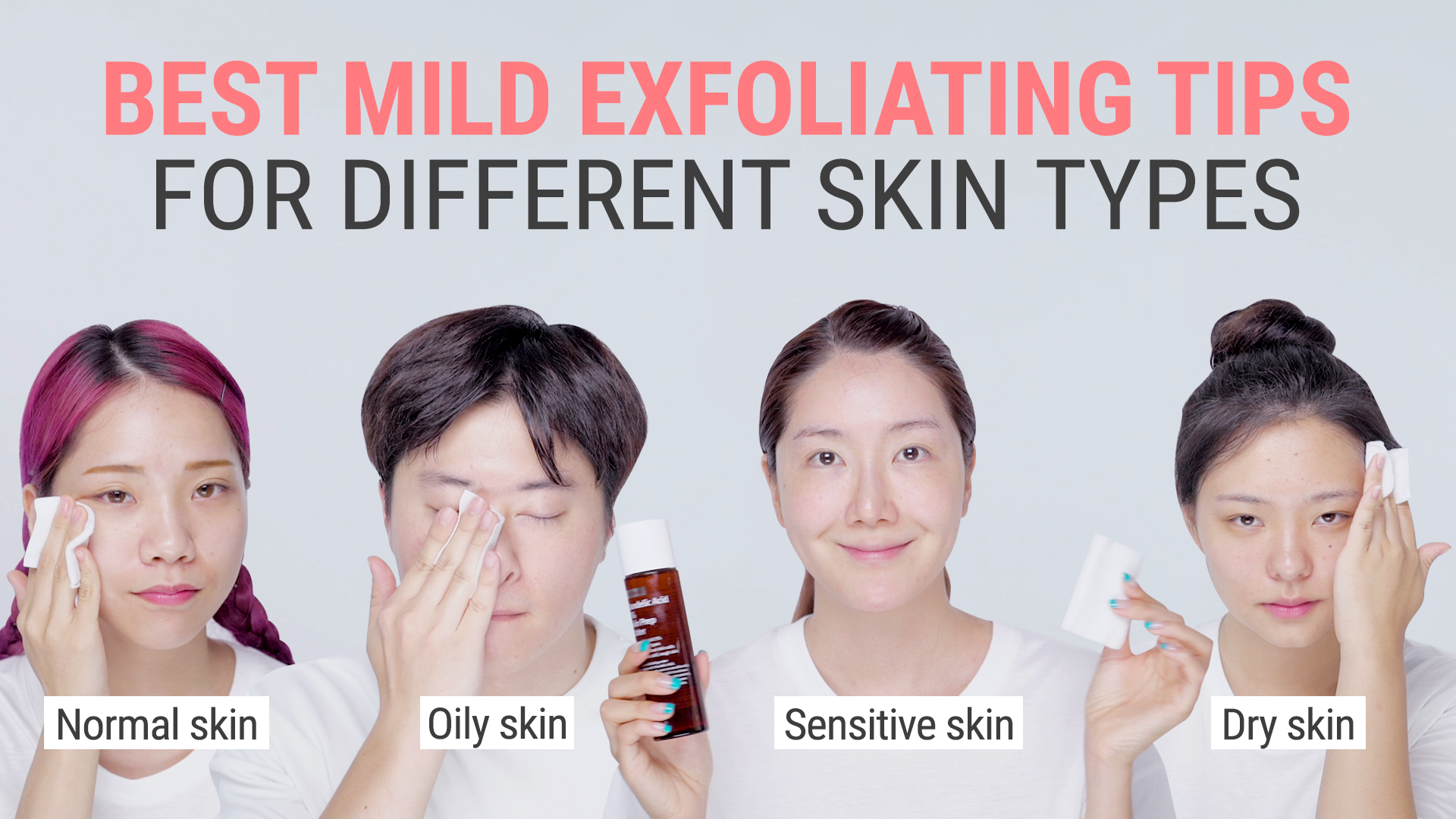 How To Exfoliate Mildly Daily For Different Skin Types | Mandelic Acid 5% Skin Prep Water