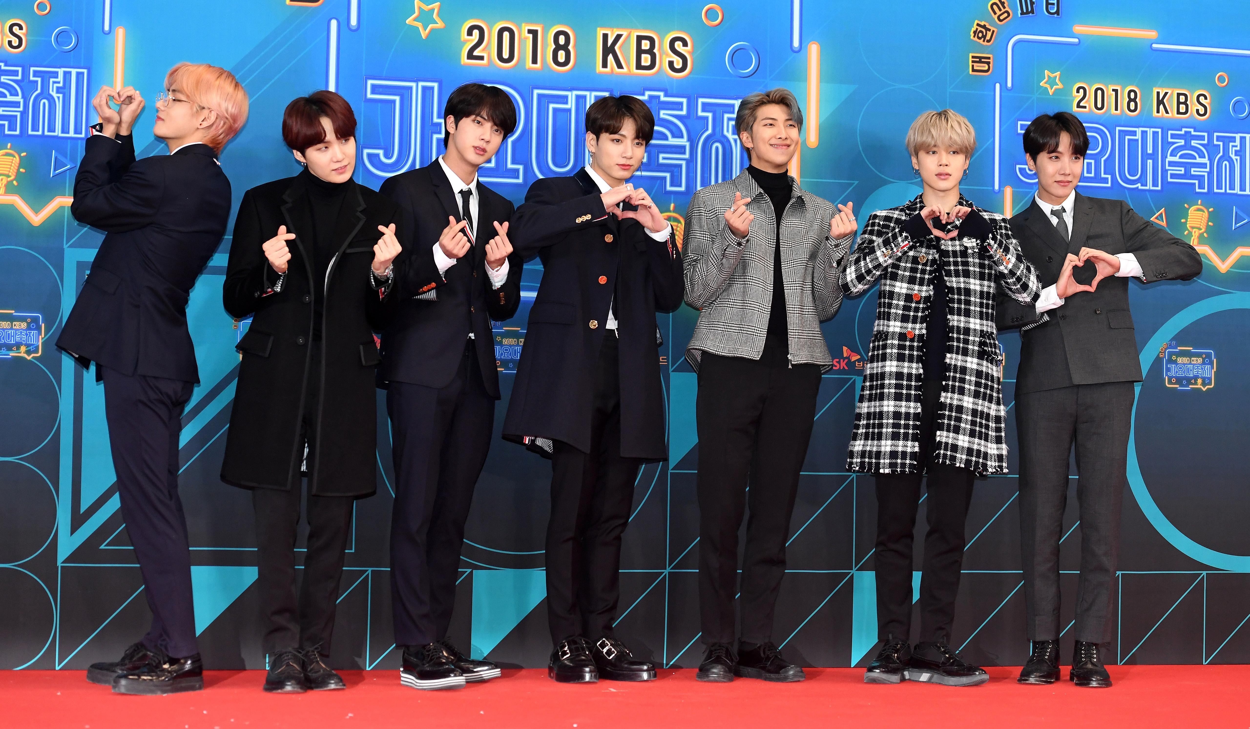 [Oh! 모션]'가요대축제' 방탄소년단, '아미에게 보내는 하트'