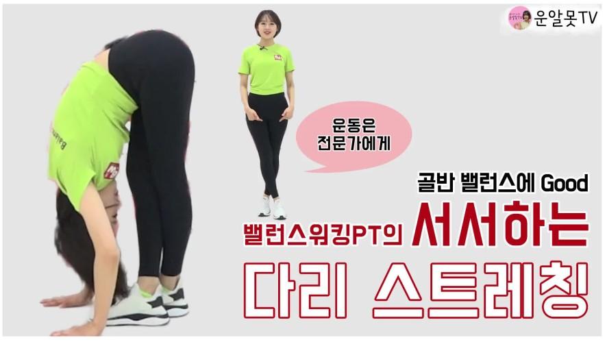 [1분팁] 서서하는 다리 스트레칭으로 골반 밸런스까지 맞추자! Let's balance the hips with leg stretches!