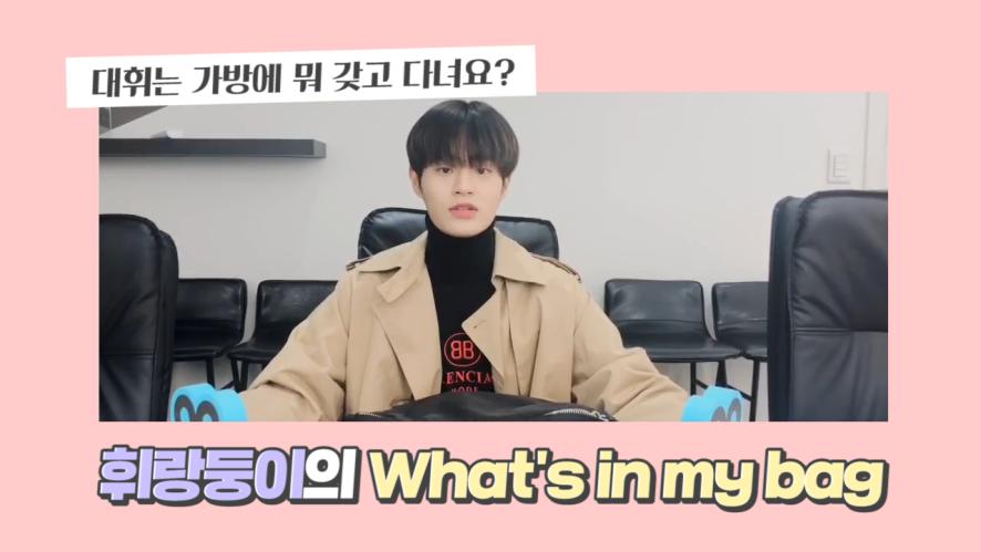 [이대휘] 사랑둥휘는 뭘 갖고 다니나요?👜💕| 인마이백 (Daehwi cuteness overload)