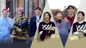 """Exclusive release for E.L.F.! Full of small but certain happiness resembling """"SUPER JUNIOR""""~ Their unique V log!"""