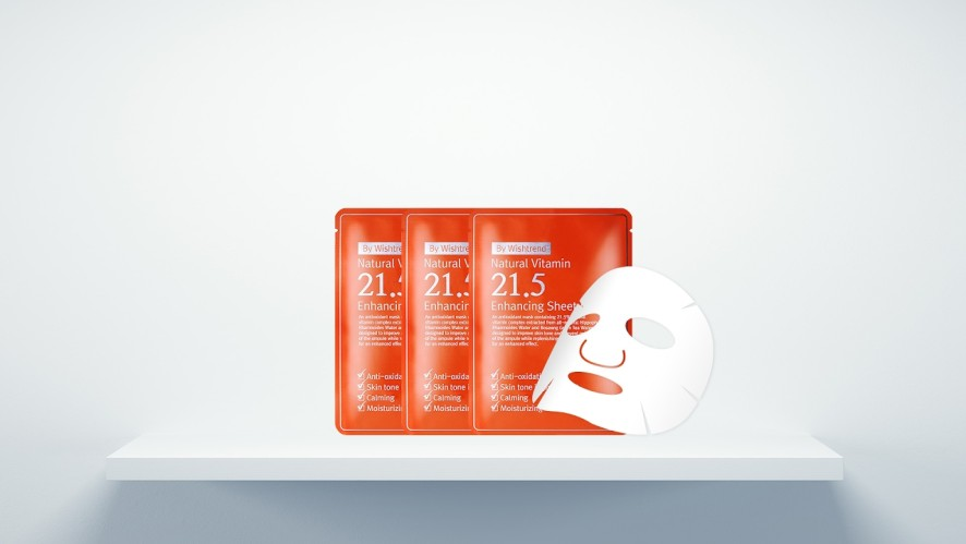 See the Brightening Effect within 7 Days   NATURAL VITAMIN 21.5 ENHANCING SHEET MASK