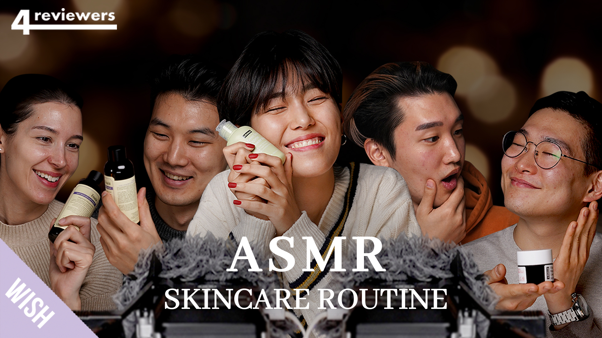 ASMR Skincare Routine For Moist & Healthy Skin with 4 Most Popular Guests! | 4 Reviewers