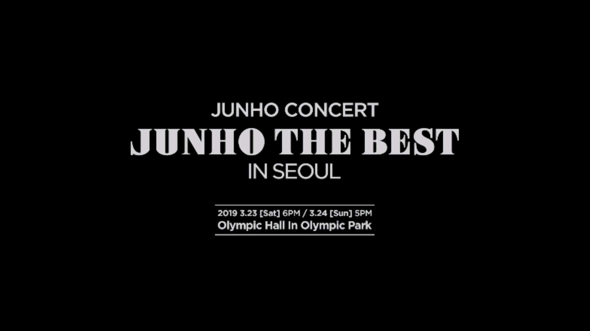 """2PM JUNHO Concert """"JUNHO THE BEST IN SEOUL"""" Teaser Video"""