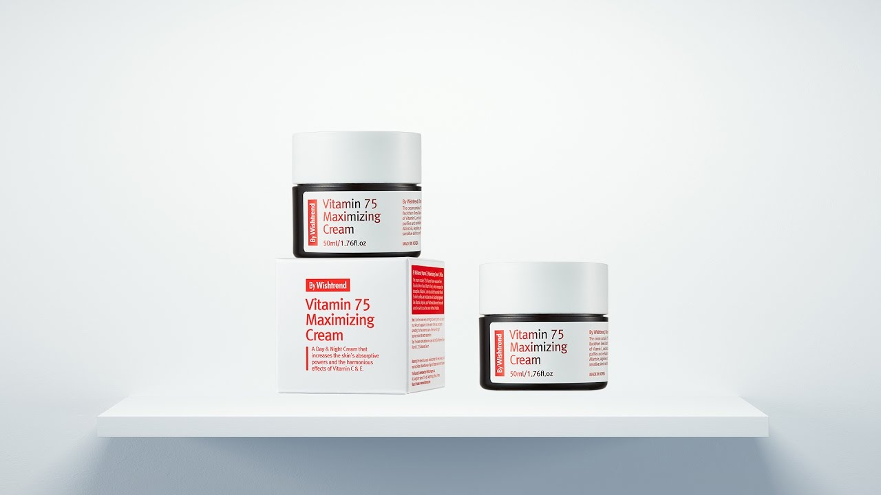 The Best Vitamin Cream for Dry Sensitive Skin | BY WISHTREND VITAMIN 75 MAXIMIZING CREAM