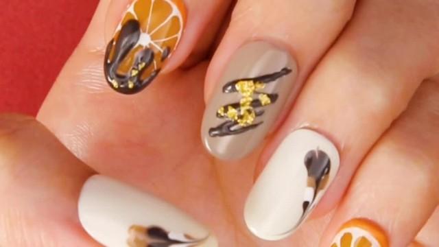 ♡ Chocolate Orangette nail