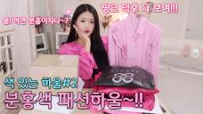 핑크덕후 다 모여!! 색 있는 하울#2 분홍색 패션하울~!!💗💕🌸👗