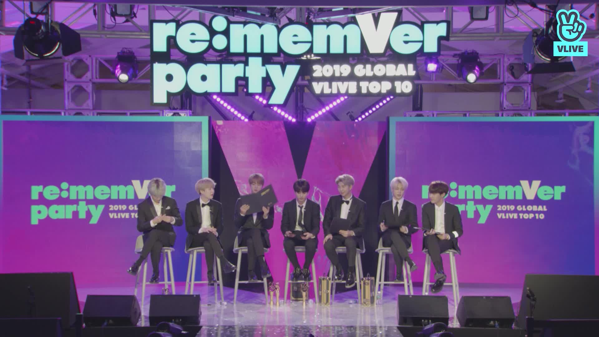 BTS 리멤버파티 시상식 파트 4 [완] / 2019 GLOBAL VLIVE TOP 10