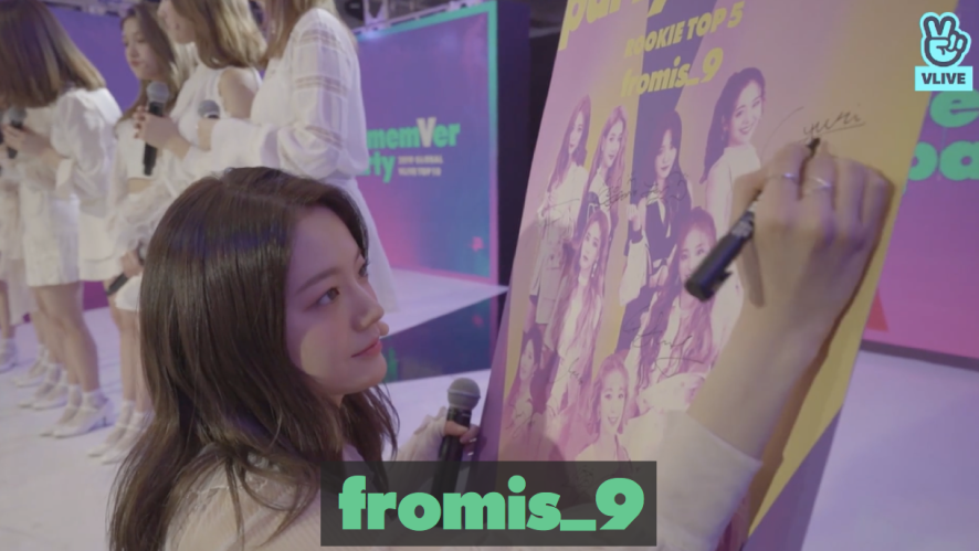 fromis_9 re:memVer party / 2019 GLOBAL VLIVE TOP 10 ROOKIE STAGE