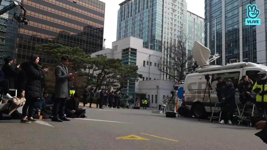승리 피의자 신분 경찰 출석 현장