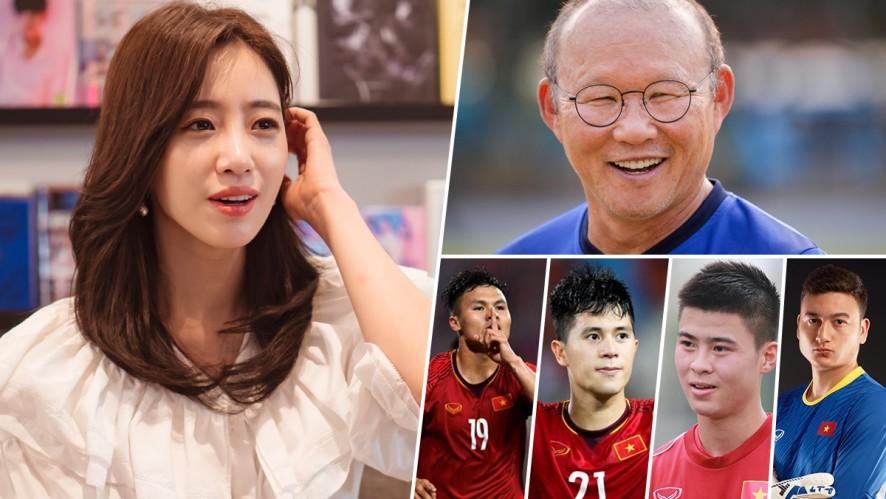 [Exclusive] Eun Jung khen tuyển Việt Nam đẹp đều, đặc biệt là HLV Park Hang Seo