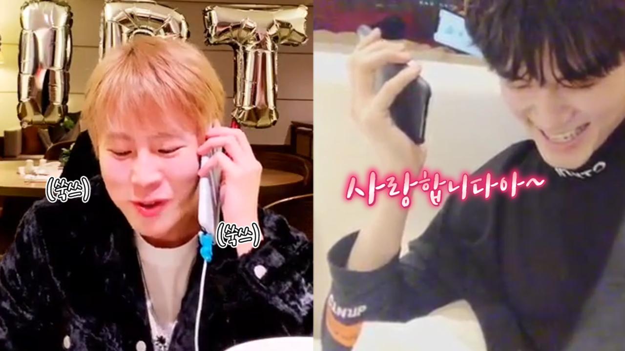 [옹성우][하성운] 떵떵즈의 미래지향적인 생일축하🎊🐿☁️🎊 (SeongWu calling with SungWoon)