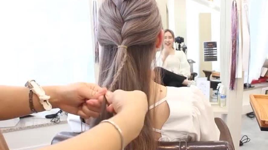 [1분팁] 머리예쁘게땋는방법 How to make beautiful braids