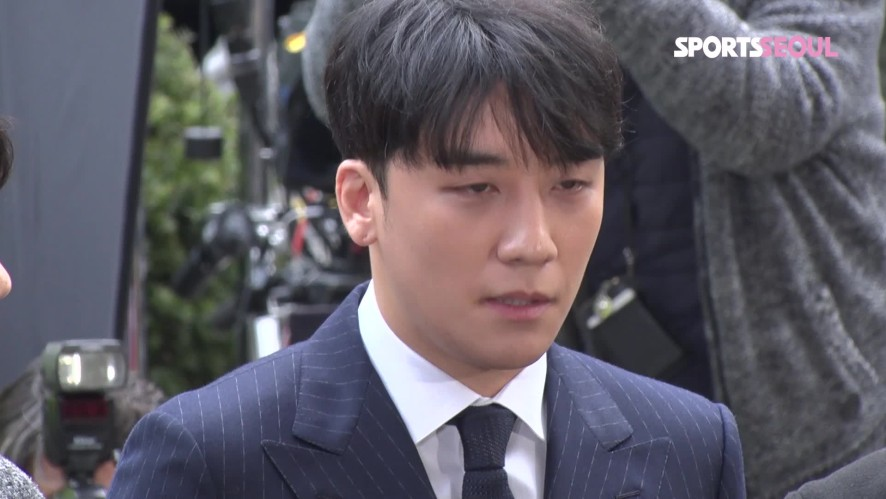 '성접대 혐의' 피의자 승리(seung ri), 그저 사죄드린다는 말뿐