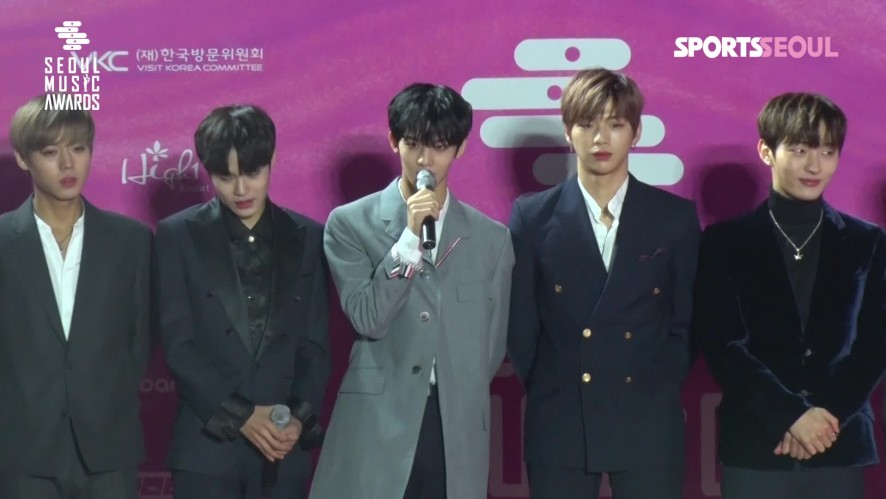 워너원(Wanna One) 배진영, 워너블 향한 쑥스러운 멘트 '귀여워' ('제28회 서울가요대상 레드카